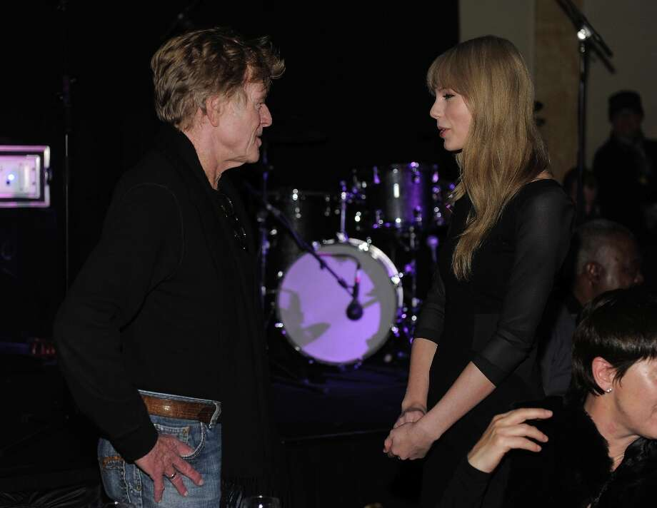 Sundance Institute President and Founder Robert Redford and musician Taylor Swift attend the Artist at the Table Dinner and Discussion held at The Shop during the 2012 Sundance Film Festival on January 19, 2012 in Park City, Utah. Photo: Jemal Countess, Getty Images / 2012 Getty Images
