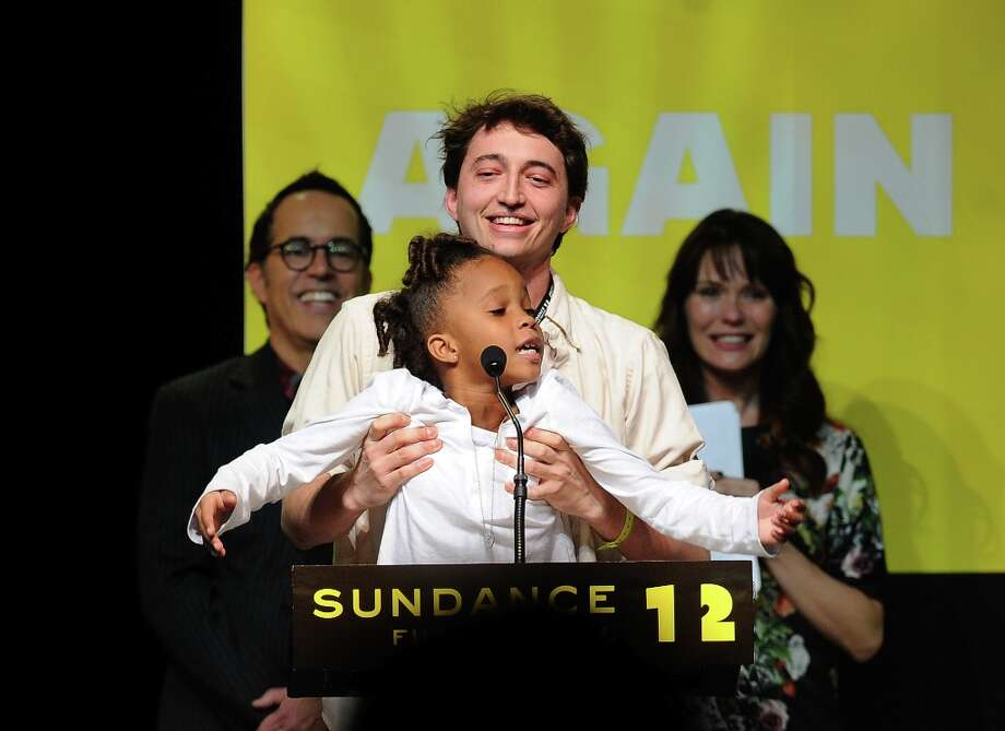 Director Benh Zeitlin and Quvenzhané Wallis accept Grand Jury Prize: Dramatic Award for 'Beasts Of The Southern Wild' onstage at the Awards Night Ceremony during the 2012 Sundance Film Festival at the Basin Recreation Field House on January 28, 2012 in Park City, Utah. Photo: Jemal Countess, Getty Images / 2012 Getty Images