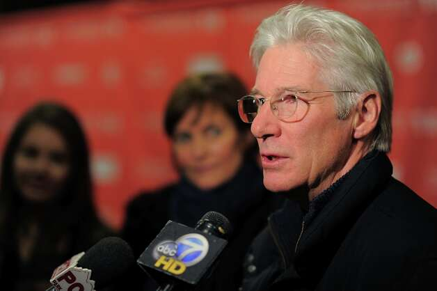 Actor Richard Gere speaks to media during the Arbitrage Premiere at the Eccles Center Theatre during the 2012 Sundance Film Festival on January 21, 2012 in Park City, Utah. Photo: Jemal Countess, Getty Images / 2012 Getty Images