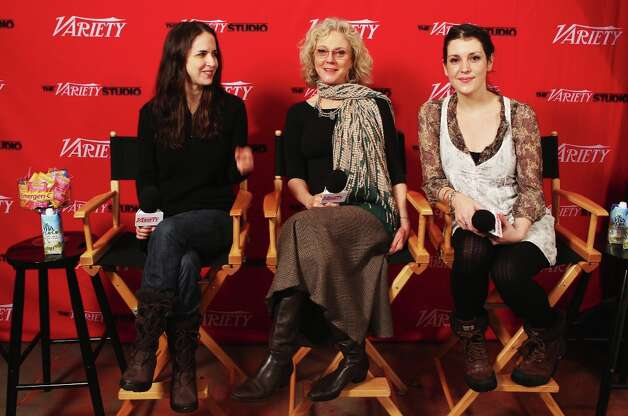 (L-R) Writer Sarah Koskoff, actress Blythe Danner and actress Melanie Lynskey speak at Day 1 of The Variety Studio at The 2012 Sundance Film Festival at Variety Studio on January 21, 2012 in Park City, Utah. Photo: Alexandra Wyman, Getty Images / 2012 Getty Images