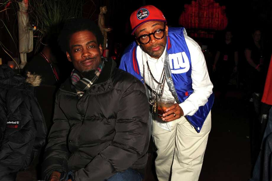 (L-R) Comedian Chris Rock and filmmaker Spike Lee attend the T-Mobile Presents Google Music at TAO, a nightlife event at the 2012 Sundance Film Festival on January 22, 2012 in Park City, Utah. Photo: Joe Scarnici, Getty Images For T-Mobile / 2012 Getty Images
