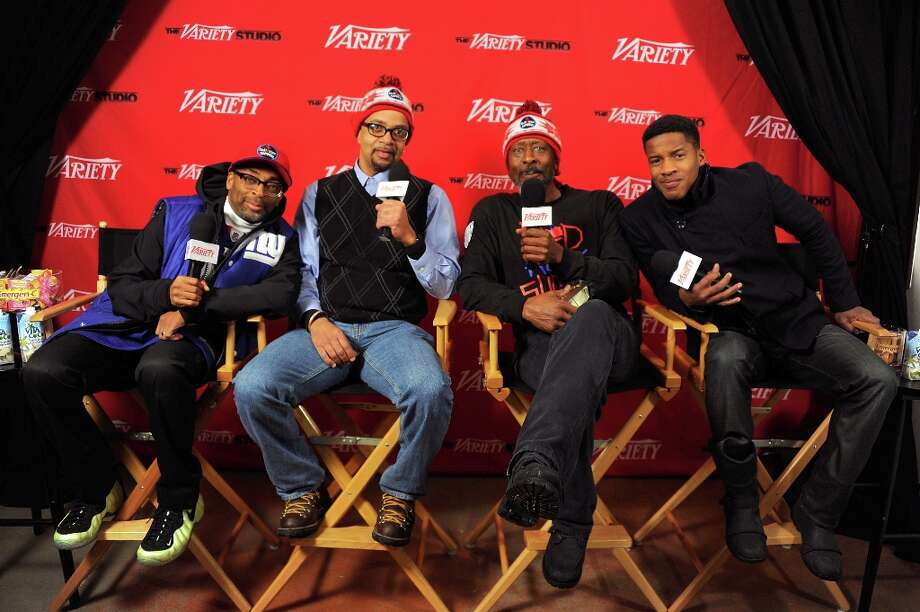(L-R) Director Spike Lee, director James McBride, actor Clarke Peters and actor Nate Parker attend Day 3 of the Variety Studio at the 2012 Sundance Film Festival on January 23, 2012 in Park City, Utah. Photo: Andrew H. Walker, Getty Images / 2012 Getty Images