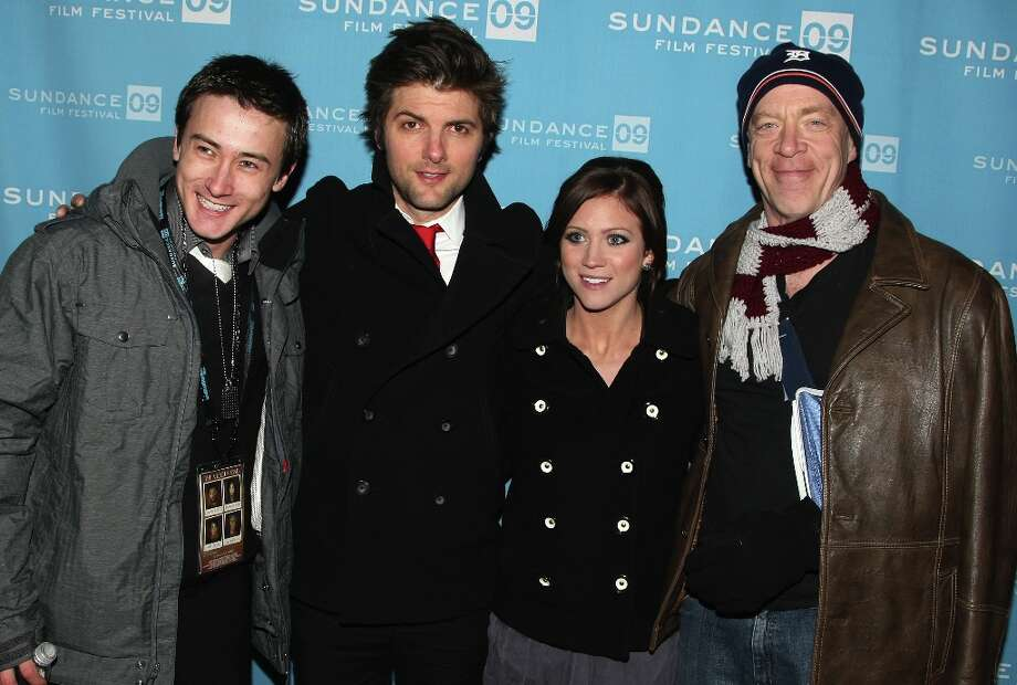 Actor Adam Scott, actor Alex Frost, actress Brittany Snow, and actor J.K. Simmons attend the screening of The Vicious Kind held at the Library Center Theatre during the 2009 Sundance Film Festival on January 17, 2009 in Park City, Utah. Photo: Andrew H. Walker, Getty Images / 2009 Getty Images