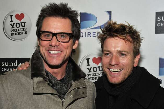 (L-R) Actors Jim Carrey and Ewan McGregor attend the DirecTV & The Sundance Channel's 2009 Sundance Party held during the 2009 Sundance Film Festival on January 18, 2009 in Park City, Utah. Photo: Frazer Harrison, Getty Images / 2009 Getty Images