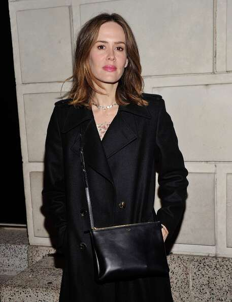 Actress Sarah Paulson attends the Cat On A Hot Tin Roof Opening Night at Richard Rodgers Theatre on