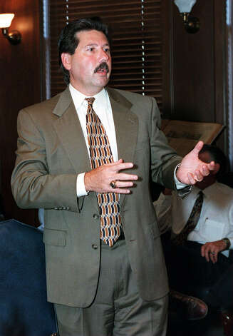 Russ Bookbinder, Spurs Vice President, April 2001. Photo: Juanito Garza, Express-News