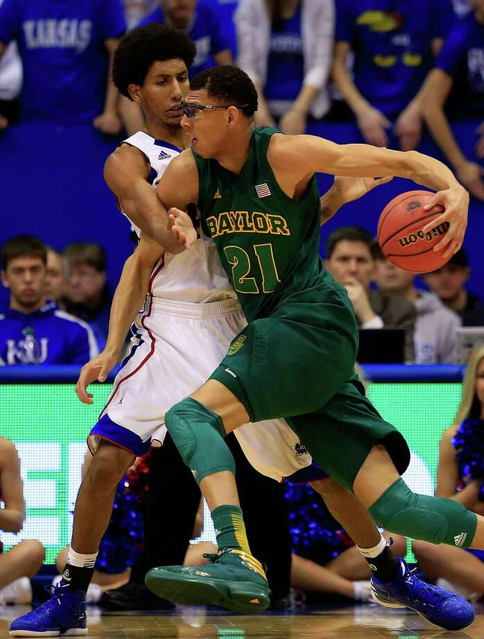 Isaiah Austin: Baylor, forward - Isaiah Austin (21) of Baylor drives as Kevin Young (40) of Kansas defends at Allen Fieldhouse on Jan. 14, 2013 in Lawrence, Kansas. Photo: Jamie Squire, Getty Images / 2013 Getty Images