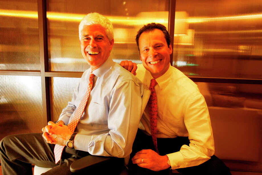 28. Kimpton Hotels & RestaurantsNo. of employees: 7,480Headquartered in San Francisco, this chain operates more than 40 boutique hotels around the world. In this picture from March 30, 2006, CEO & President Mike Depatie (left) laughs with new chief financial officer Greg Wolkom. Photo: Eric Luse, SFC / The Chronicle