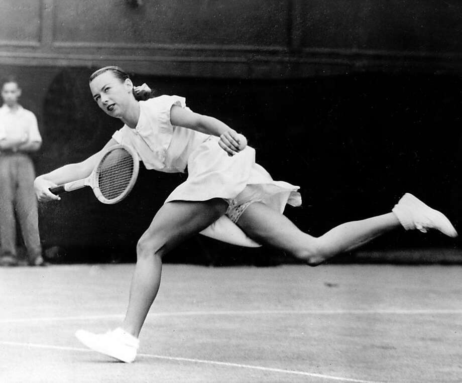 Gussie Moran's tennis outfit created a stir at Wimbledon. Photo: Associated Press