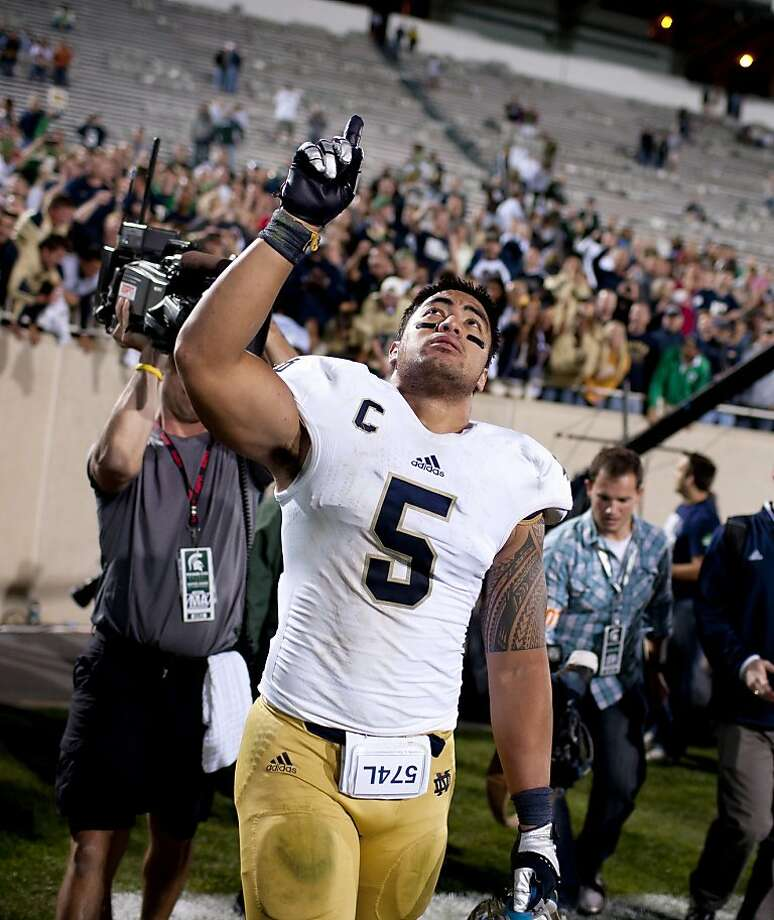 Manti Te'o made his first public remarks since the hoax surfaced. Photo: James Brosher, Associated Press