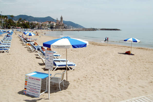 The beach at Sitges is ideal for a sightseeing time-out. Photo: Cameron Hewitt, Ricksteves.com