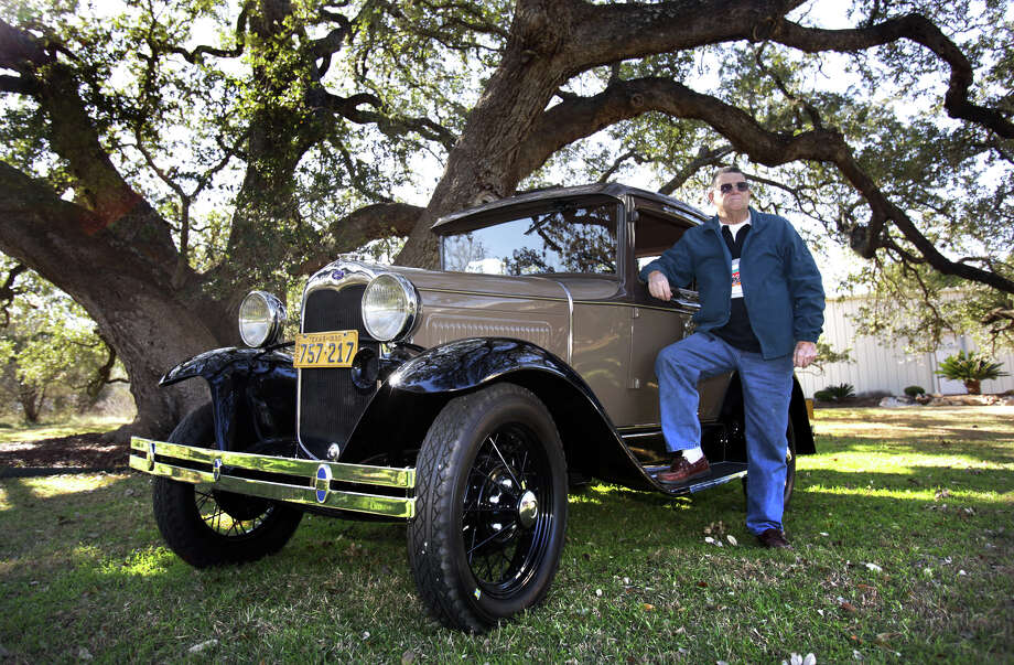 Jay Pearcy won the Henry Ford Award for his 1930 Model A Standard Coupe.  Thursday, Jan. 17, 2013. Photo: BOB OWEN, San Antonio Express-News / © 2012 San Antonio Express-News
