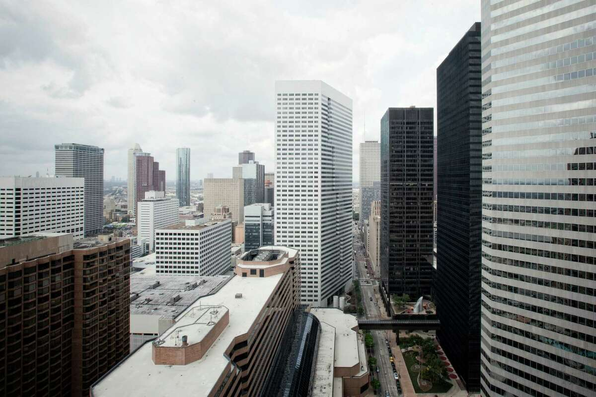 A view of downtown Houston is seen, Friday, March 4, 2011, from the bedroom of a model apartment at One Park Place luxury apartments in Houston, Texas. (Todd Spoth/For the Chronicle)