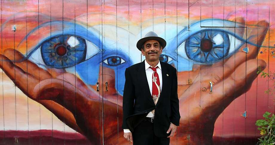 San Francisco's sixth Poet Laureate Alejandro Murguia visits one of his favorite haunts in the Mission, Balmy alley, these murals inspire his poems. File photo on Jan. 11, 2013, in San Francisco.  Photo: Lance Iversen, The Chronicle