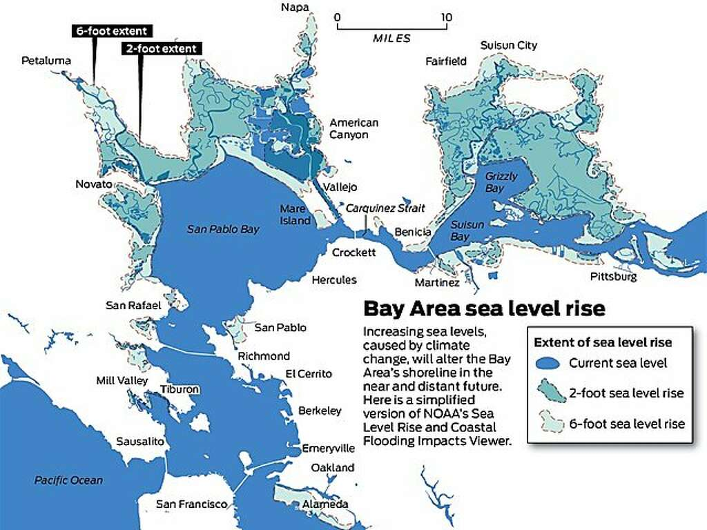 Increasing Sea Levels Caused By Climate Change Will Alter The Bay Area S Sline In