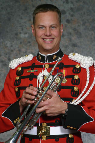 Marine Gunnery Sgt. Scott Gearhart, a Beaumont native, will be playing the trumpet in the Marine Corps Band for President Barack Obama's inauguration. Photo: Marine Corps