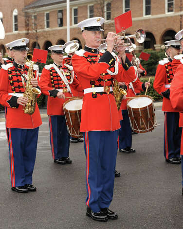 Marine Gunnery Sgt. Scott Gearhart, a Beaumont native, will be playing the trumpet in the Marine Corps Band for President Barack Obama's inauguration. Photo: Marine Corps, HQMC CVIC / digital