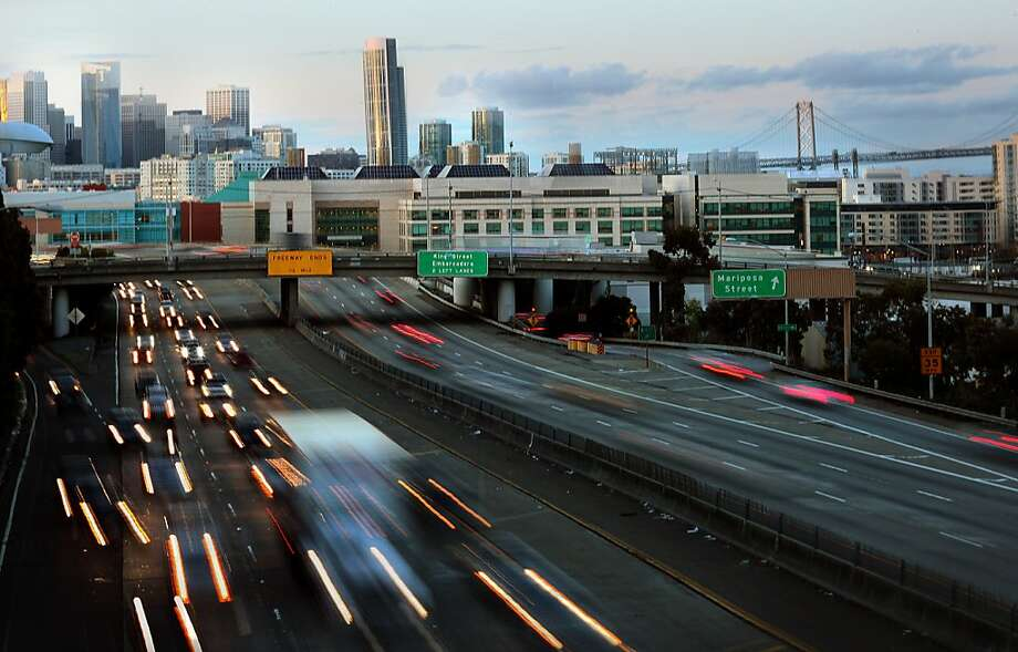 Interstate 280 interchanges at Sixth Street, above, and Fourth Street are targeted for elimination in Mayor Ed Lee's proposal. Photo: Liz Hafalia, The Chronicle