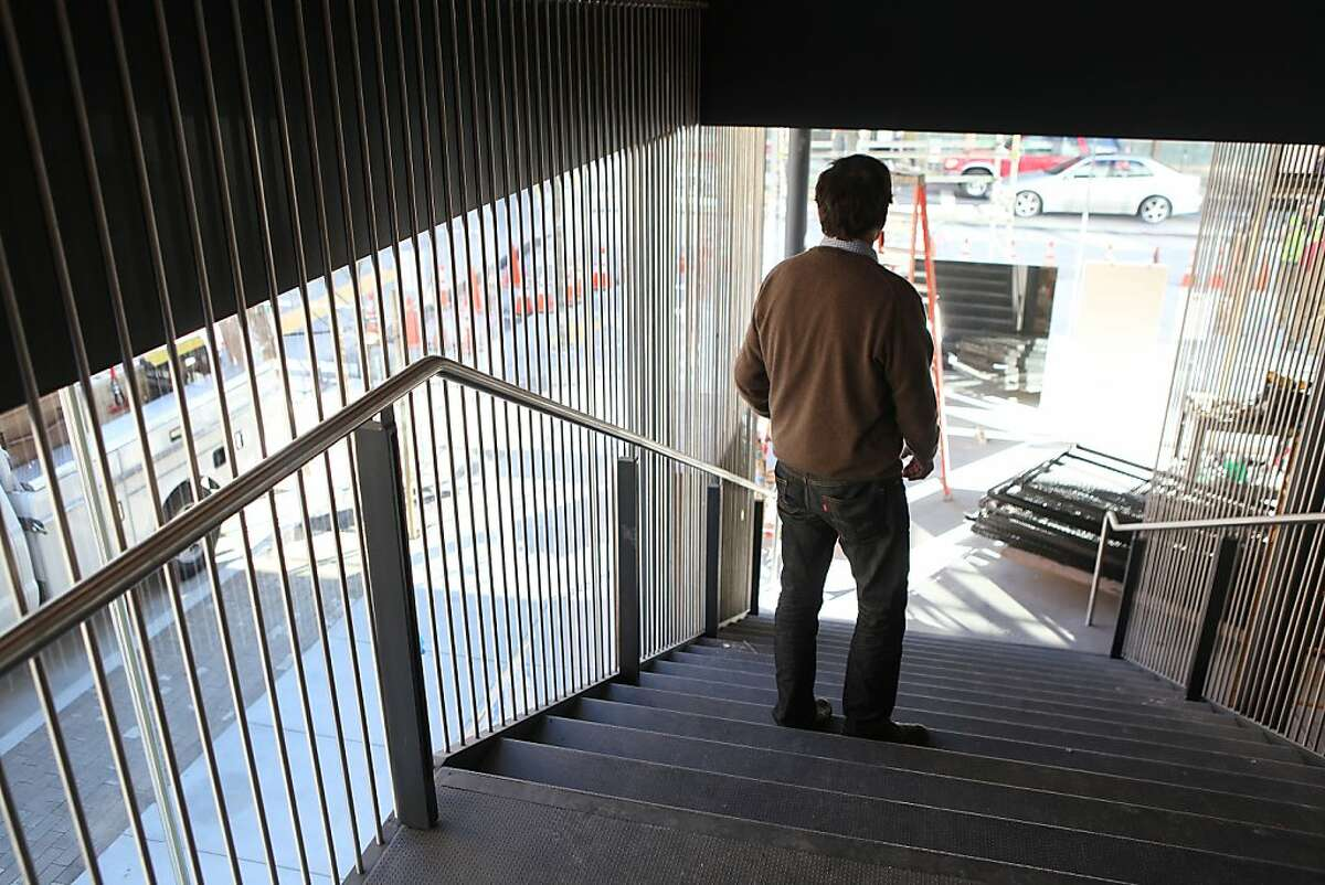 Randall Kline, founder of SFJazz, in the stairway of his new jazz venue in San Francisco, California, on Wednesday, January 2, 2013. After 30 years of having concerts in rented halls is opening the SFJAZZ center in the Civic Center later this month.