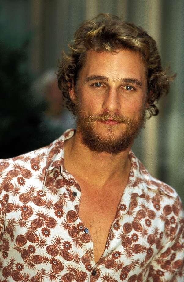 Matthew McConaughey in the '90s. / Alain BENAINOUS/GAMMA