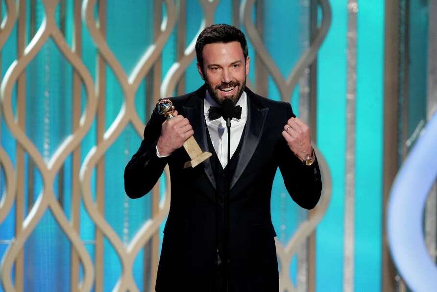 Ben Affleck in 2013, accepting the Best Director award at the Golden Globes ceremony in January.