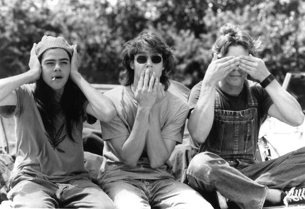 The music in Dazed and Confused was anthemic, with the likes of Foghat and Aerosmith. (Pictured are actors Rory Cochrane, Jason London and Sasha Jenson).  Photo: Archive Photos, Getty Images / 2011 Getty Images