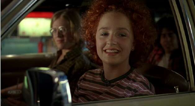 Marissa Ribisi was the memorable nerd Cynthia, driving around with nerd friends Tony (Anthony Rapp, left) and Mike (Adam Goldberg, right).