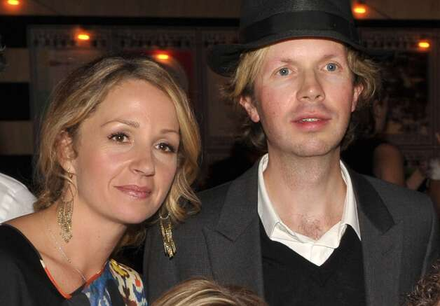 Marissi Ribisi in 2012, with husband Beck. They're both well-known Scientologists.