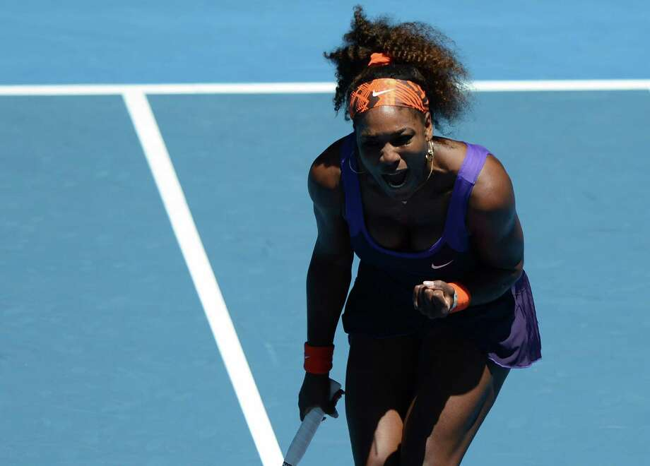 Serena Williams had plenty to celebrate after advancing to the fourth round of the Australian Open with a nearly effortless win. Photo: GREG WOOD, Staff / AFP