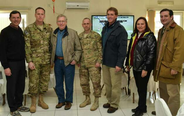 Congressional delegation meets with Brig Gen Howell, NATO Special Operations Component Command -- Afghanistan/Special Operations Joint Task Force.