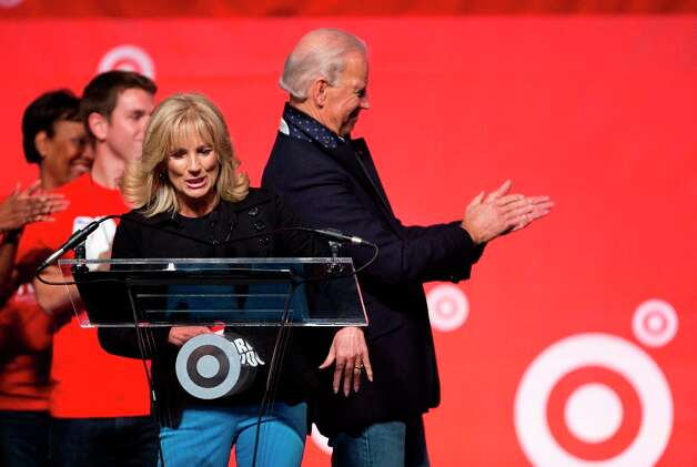 Vice President Joe Biden applauds as his wife Jill Biden introduce the members of the Biden family during the National Day of Service, part of the 57th presidential inauguration in Washington, Saturday, Jan. 19, 2013. Photo: Manuel Balce Ceneta, Associated Press / AP