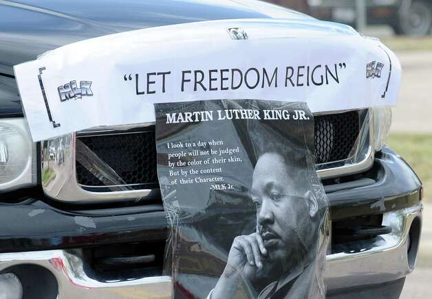 Locals gather at on Highland Avenue to watch the Martin Luther King, Jr. parade in Beaumont on Saturday, January, 19, 2013. Photo taken: Randy Edwards/The Enterprise Photo: Randy Edwards