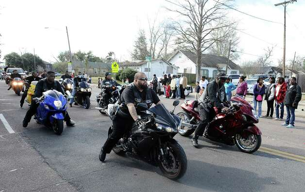 From horses to Harleys, supporters marched, rode, and danced their way down the street during the Martin Luther King, Jr. parade in Beaumont on Saturday, January, 19, 2013. Photo taken: Randy Edwards/The Enterprise Photo: Randy Edwards