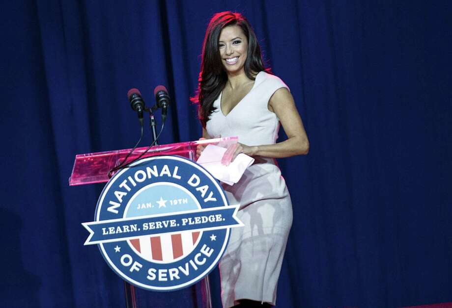 Actress Eva Longoria, a speaker at Saturday's National Day of Service in Washington, will be the host of the Latino Inaugural 2013 on Sunday. Photo: BRENDAN SMIALOWSKI, Staff / 2012 Brendan Smialowski