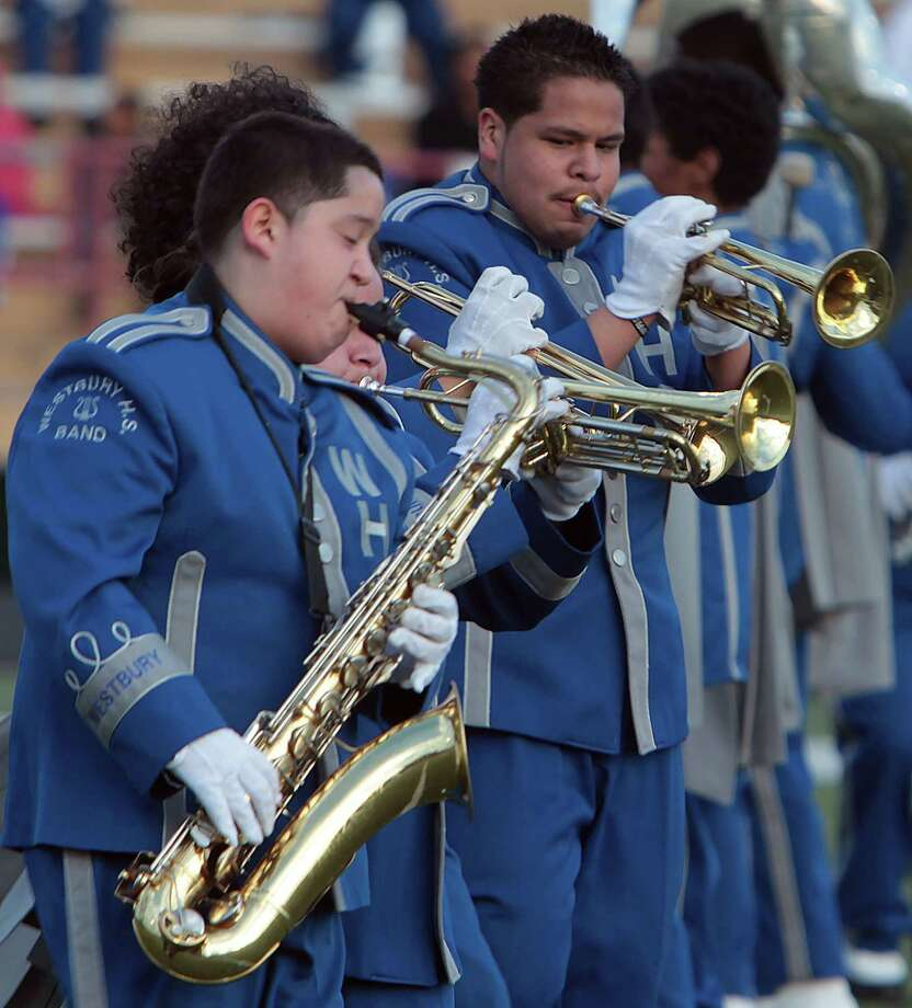 Houston's Westbury High School performs during the 12Th Annual MLK Battle Of The Bands at HISD's Butler Stadium Saturday, Jan. 19, 2013, in Houston. Photo: James Nielsen, Chronicle / © Houston Chronicle 2013