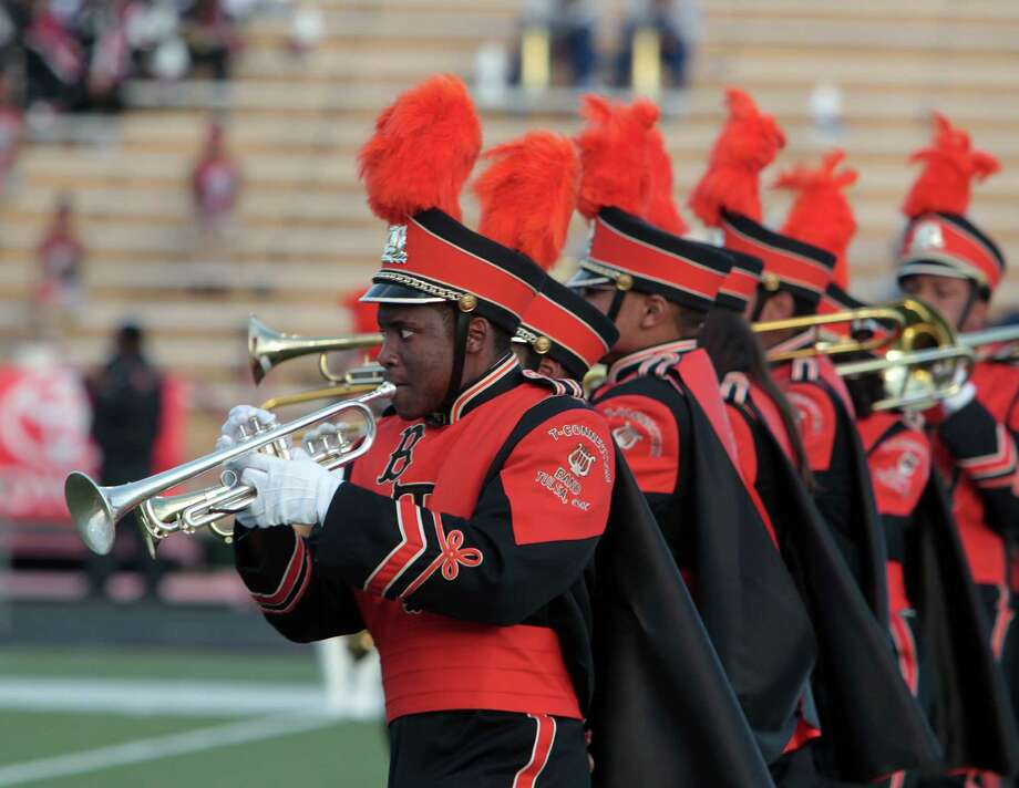 Tulsa, Oklahoma's Booker T. Washington High School performs during the 12Th Annual MLK Battle Of The Bands at HISD's Butler Stadium Saturday, Jan. 19, 2013, in Houston. Photo: James Nielsen, Chronicle / © Houston Chronicle 2013