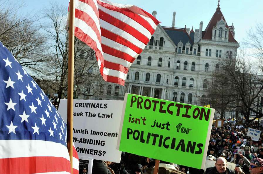 Pro-Second Amendment and pro-gun supporters attend a national rally on Saturday, Jan. 19, 2013, at t