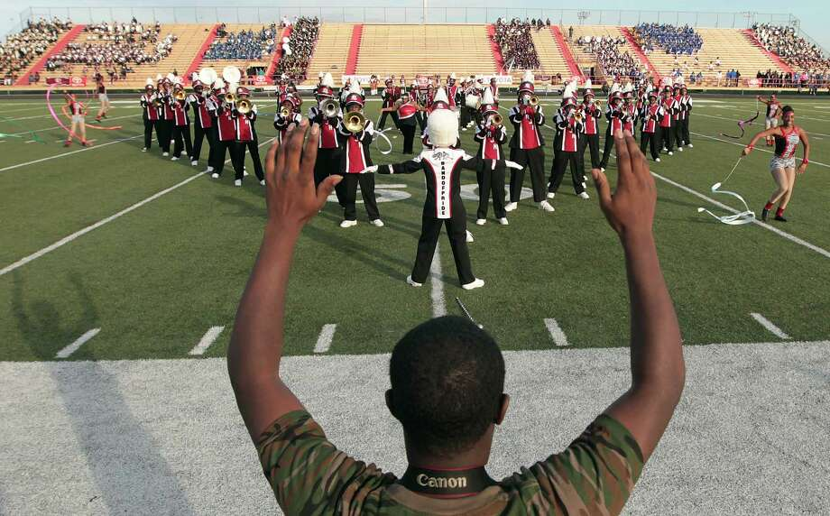Pine Bluff, Arkansas' Robey Junior High School performs during the 12Th Annual MLK Battle Of The Bands at HISD's Butler Stadium Saturday, Jan. 19, 2013, in Houston. Photo: James Nielsen, Chronicle / © Houston Chronicle 2013