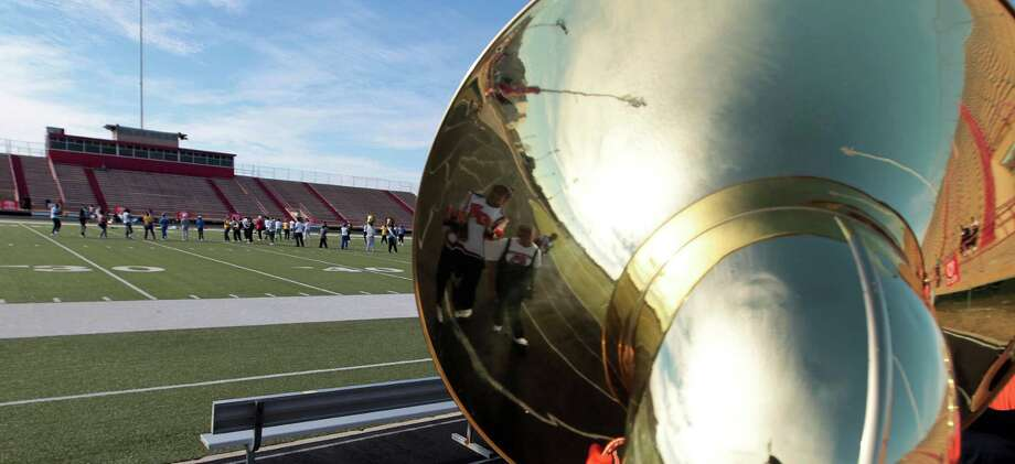 Bands practice before the 12Th Annual MLK Battle Of The Bands at HISD's Butler Stadium Saturday, Jan. 19, 2013, in Houston. Photo: James Nielsen, Chronicle / © Houston Chronicle 2013
