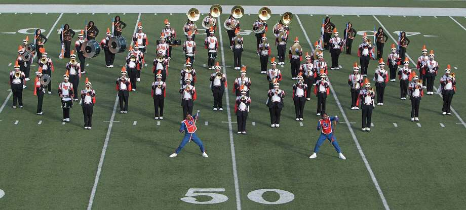 Langston University's band performs during the 12Th Annual MLK Battle Of The Bands at HISD's Butler Stadium Saturday, Jan. 19, 2013, in Houston. Photo: James Nielsen, Chronicle / © Houston Chronicle 2013