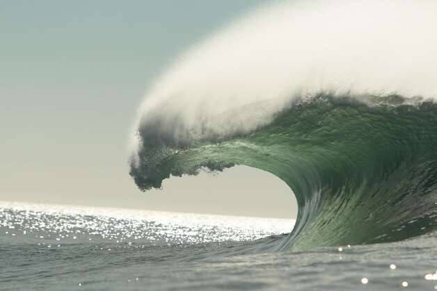 A wave breaks at Mavericks on the day before the Mavericks Invitational on Saturday, January 19, 2013. Photo: Mathew Sumner, Special To The Chronicle