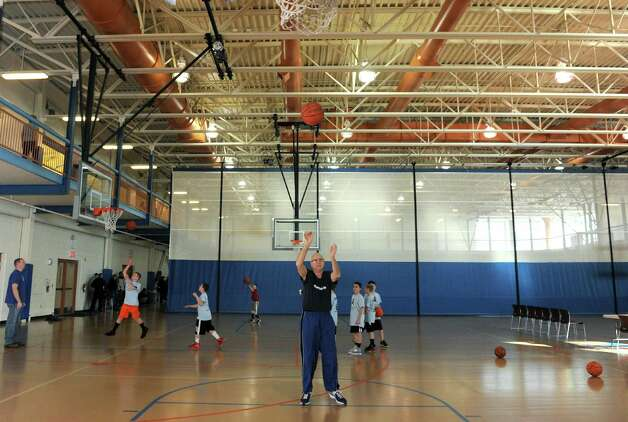 Brian O'Neill, 72, shoots basketball free-throw shots at the Ciccotti Center on Saturday Jan.19,2013 in Colonie, N.Y. (Michael P. Farrell/Times Union) Photo: Michael P. Farrell
