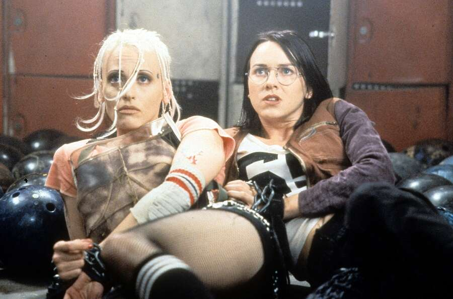 In 1995, Naomi Watts (right) was starring in stuff like this movie 'Tank Girl,' with Lori Pet