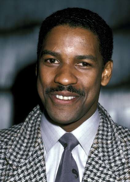 Denzel Washington with a fine mustache!