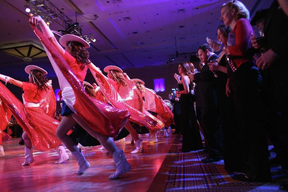 Members of the Kilgore, Texas Rangerettes perform at the Texas Black Tie and Boots inaugural ball on January 19, 2013 in National Harbor, Maryland. Thousands of Texans turned out to celebrate the upcoming second inauguration of U.S. President Barack Obama. Photo: John Moore, Getty Images / 2013 Getty Images