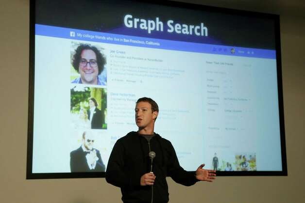 Facebook CEO Mark Zuckerberg speaks at Facebook headquarters in Menlo Park, Calif., on Tuesday. Photo: AP