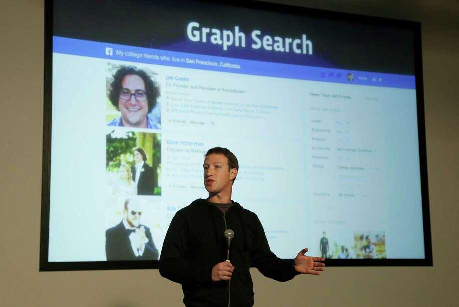 Facebook CEO Mark Zuckerberg speaks at Facebook headquarters in Menlo Park, Calif., on Tuesday. Photo: AP