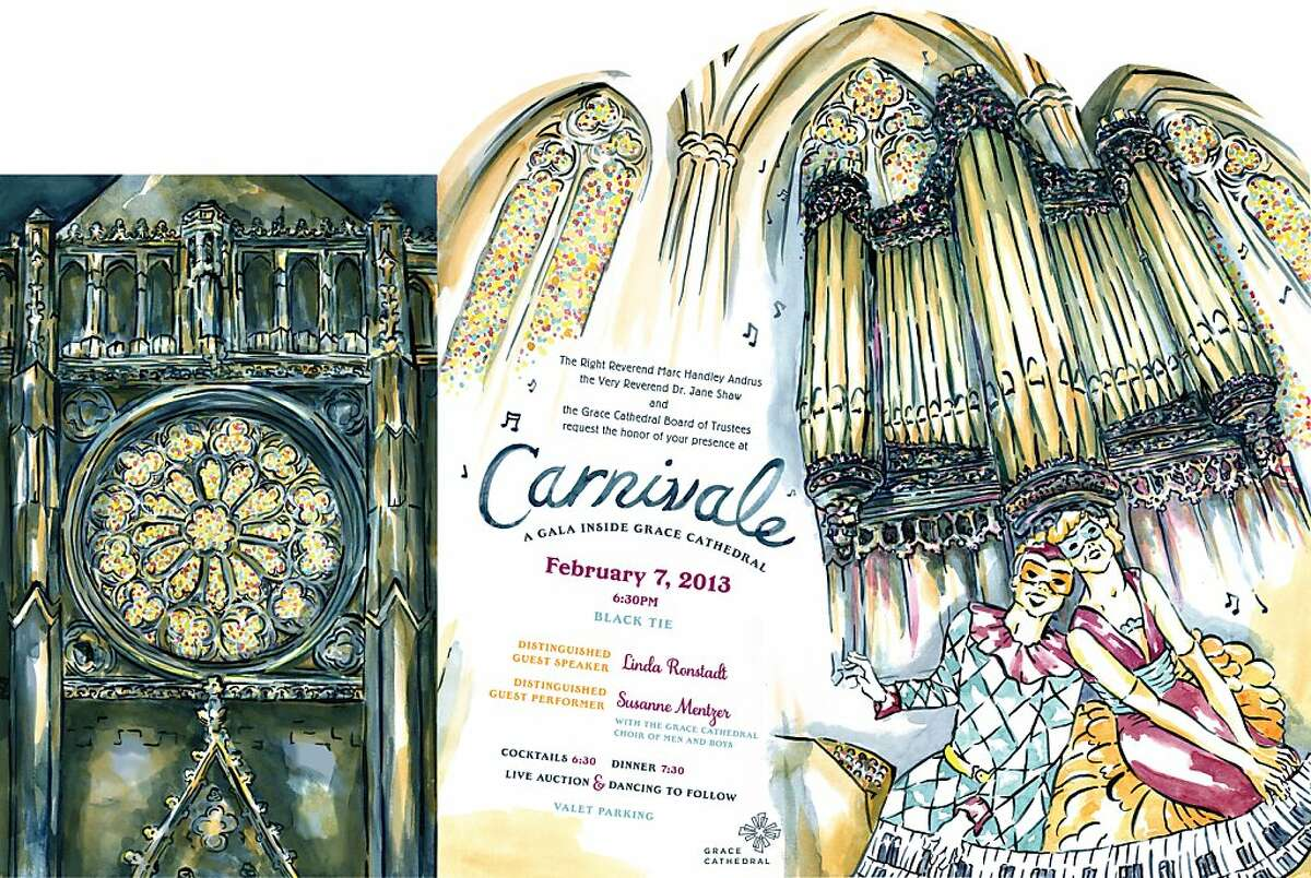 Enjoy cocktails, dinner and live music surrounded by towering columns and soaring arches at the gala inside Grace Cathedral. This festive evening marks the launch of the Year of Music, a year-long celebration of the 100th anniversary of the Grace Cathedral Choir of Men and Boys, who will perform Feb. 7. Proceeds from Carnivale provide significant support of Grace Cathedral s innovative programs, service ministries, educational offerings and arts programs,