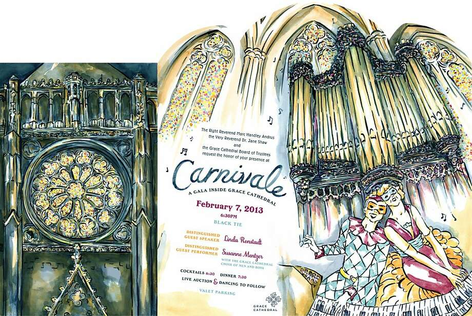 Enjoy cocktails, dinner and live music surrounded by towering columns and soaring arches at the gala inside Grace Cathedral. This festive evening marks the launch of the Year of Music, a year-long celebration of the 100th anniversary of the Grace Cathedral Choir of Men and Boys, who will perform Feb. 7. Proceeds from Carnivale provide significant support of Grace Cathedral s innovative programs, service ministries, educational offerings and arts programs, Photo: Grace Cathedral