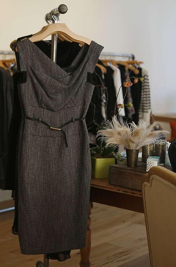 A dress from Black Halo, $350, displayed at Carolina Boutique in Novato, Calif., on Friday, January 18, 2013. Photo: Liz Hafalia, The Chronicle